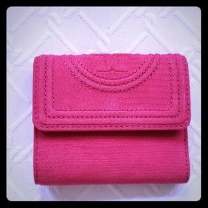 Tory Burch small pink wallet